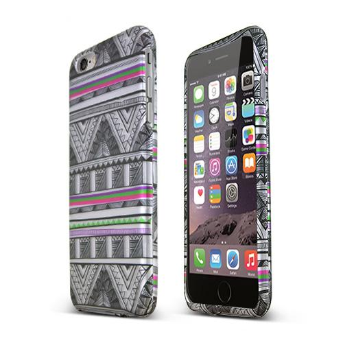 Apple iPhone 6 PLUS/6S PLUS (5.5 inch) Hard Case,  [Antique Aztec Tribal]  Slim & Protective Rubberized Matte Finish Snap-on Hard Polycarbonate Plastic Case Cover