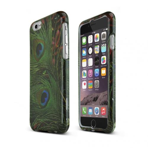 Apple iPhone 6/ 6S Case,  [Peacock Feathers]  Slim & Protective Rubberized Matte Finish Snap-on Hard Polycarbonate Plastic Case Cover