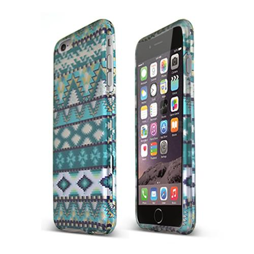 Apple iPhone 6 PLUS/6S PLUS (5.5 inch) Hard Case,  [Mint Green Aztec]  Slim & Protective Rubberized Matte Finish Snap-on Hard Polycarbonate Plastic Case Cover