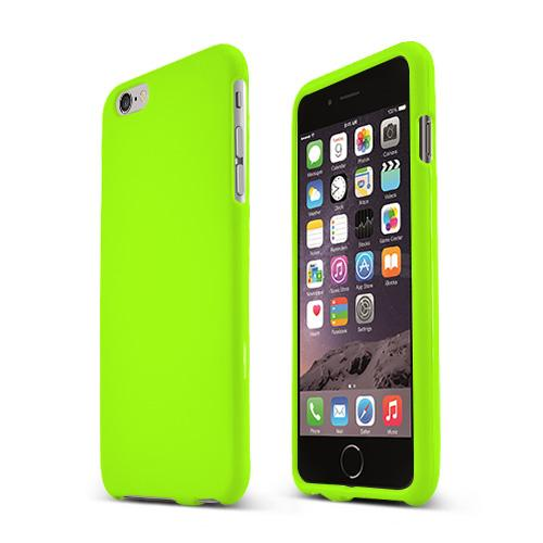 Apple iPhone 6 PLUS/6S PLUS (5.5 inch) Hard Case,  [Neon Green]  Slim & Protective Rubberized Matte Finish Snap-on Hard Polycarbonate Plastic Case Cover