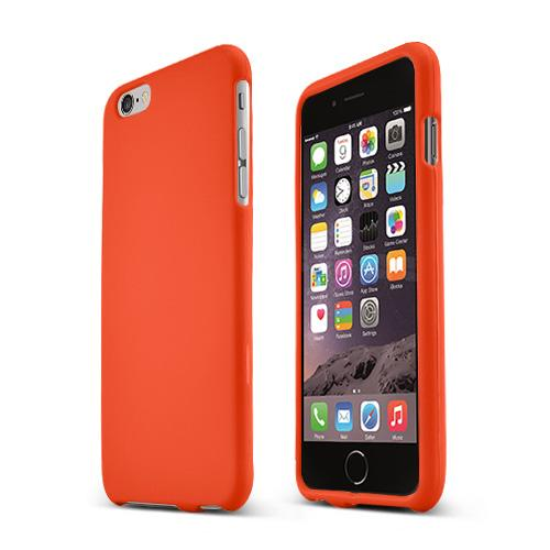 Apple iPhone 6 PLUS/6S PLUS (5.5 inch) Hard Case,  [Orange]  Slim & Protective Rubberized Matte Finish Snap-on Hard Polycarbonate Plastic Case Cover