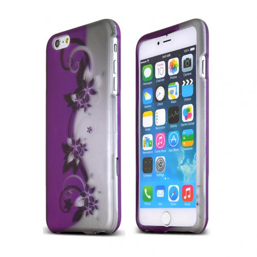 Apple iPhone 6 PLUS/6S PLUS (5.5 inch) Hard Case,  [Purple Vines]  Slim & Protective Rubberized Matte Finish Snap-on Hard Polycarbonate Plastic Case Cover