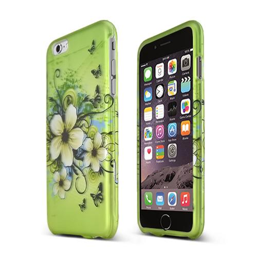 Apple iPhone 6 PLUS/6S PLUS (5.5 inch) Hard Case,  [White Hawaiian Flowers]  Slim & Protective Rubberized Matte Finish Snap-on Hard Polycarbonate Plastic Case Cover