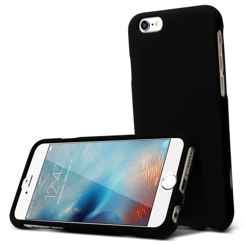 Apple iPhone 6S Case, [Black] Slim & Protective Rubberized Matte Hard Plastic Case