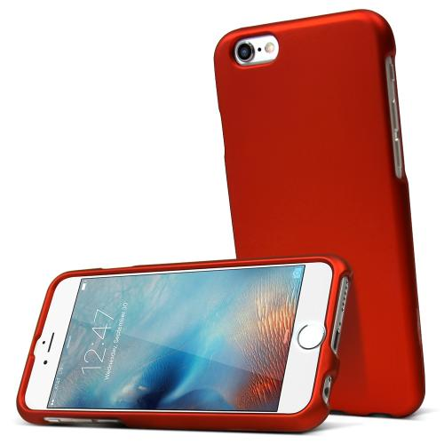 Apple iPhone 6S Case, [Orange] Slim & Protective Rubberized Matte Hard Plastic Case