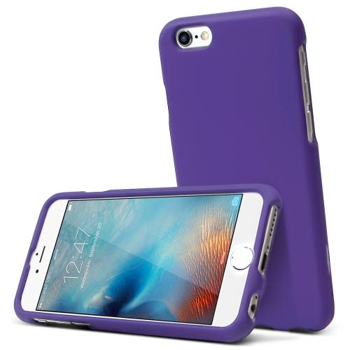 Apple iPhone 6S Case, [Purple] Slim & Protective Rubberized Matte Hard Plastic Case