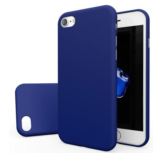 Apple iPhone 7 (4.7 inch) Case, [REDshield] Slim & Protective Rubberized Matte Finish Snap-on Hard Polycarbonate Plastic Case Cover [Blue]