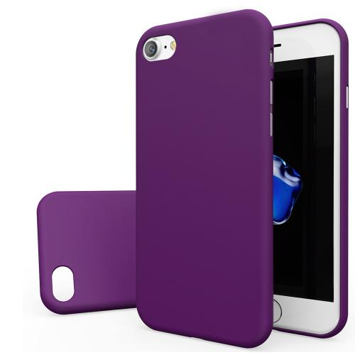 Apple iPhone 7 (4.7 inch) Case, [REDshield] Slim & Protective Rubberized Matte Finish Snap-on Hard Polycarbonate Plastic Case Cover [Purple]