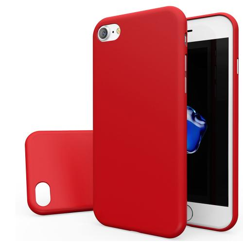 Apple iPhone 7 (4.7 inch) Case, [REDshield] Slim & Protective Rubberized Matte Finish Snap-on Hard Polycarbonate Plastic Case Cover [Red]