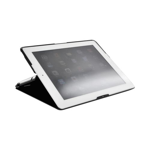 Apple iPad 2 Slim Standing Hard Case w/ Adjustable Stand Angles– Black