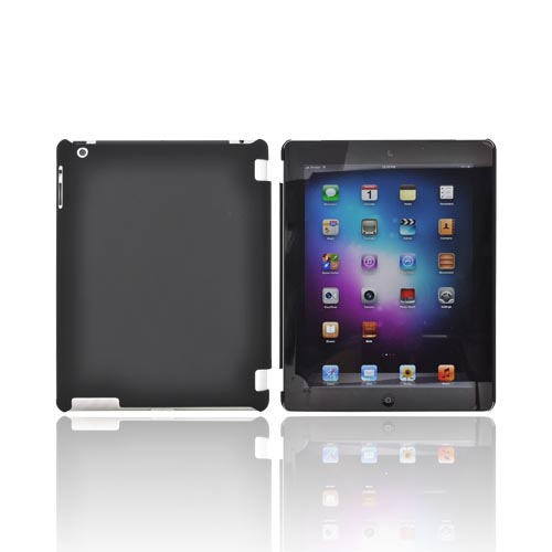 Apple New iPad (3rd Gen.) Rubberized Hard Case - Black (Works with Smart Cover!)