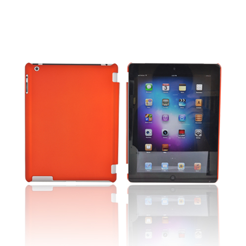 Apple New iPad (3rd Gen.) Rubberized Hard Case - Orange (Works with Smart Cover!)