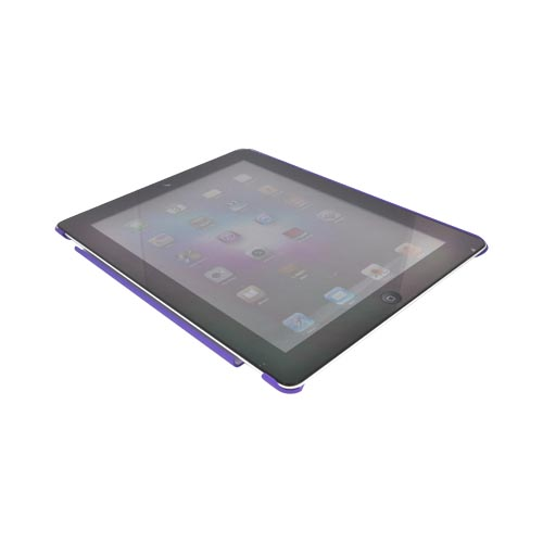 Apple New iPad (3rd Gen.) Rubberized Hard Case - Purple (Works with Smart Cover!)