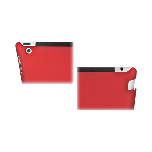 Apple New iPad (3rd Gen.) Rubberized Hard Case - Red (Works with Smart Cover!)