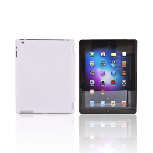 Apple New iPad (3rd Gen.) Rubberized Hard Case - White (Works with Smart Cover!)
