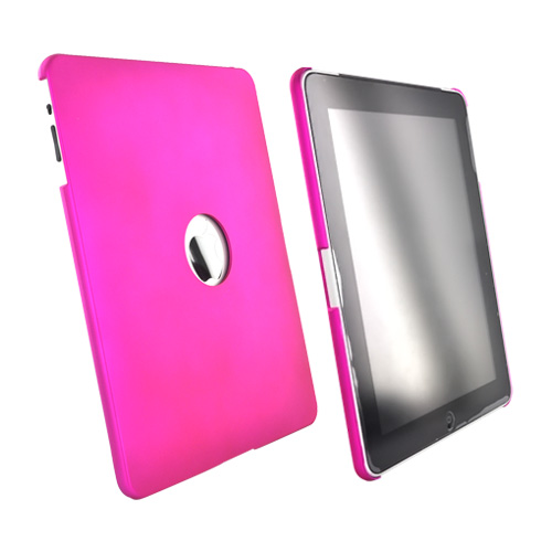 Apple iPad (1st Gen) 1st Rubberized Hard Case - Hot Pink