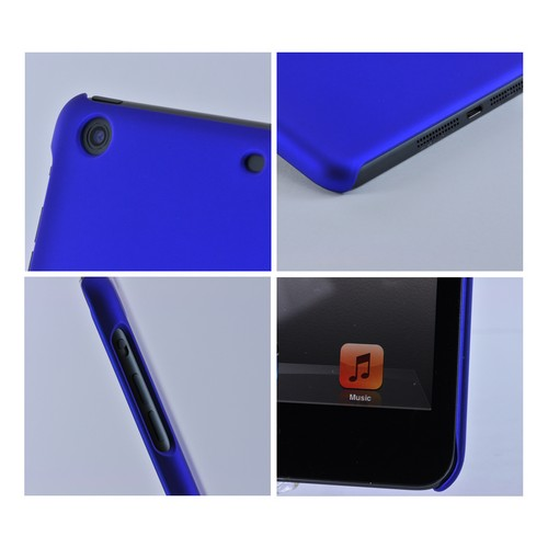 Blue Rubberized Hard Case for Apple iPad Mini 1/2/3