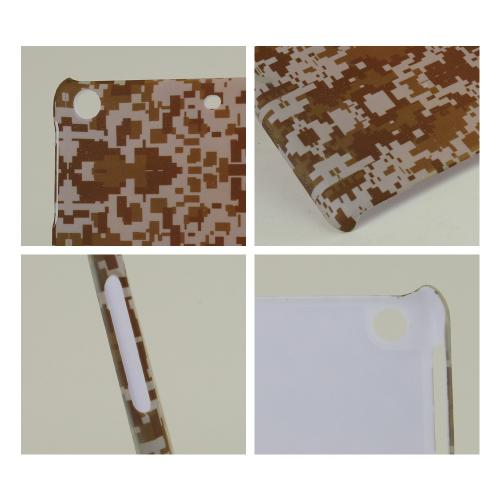 Tan Desert Digital Camouflage Rubberized Hard Case for Apple iPad Mini