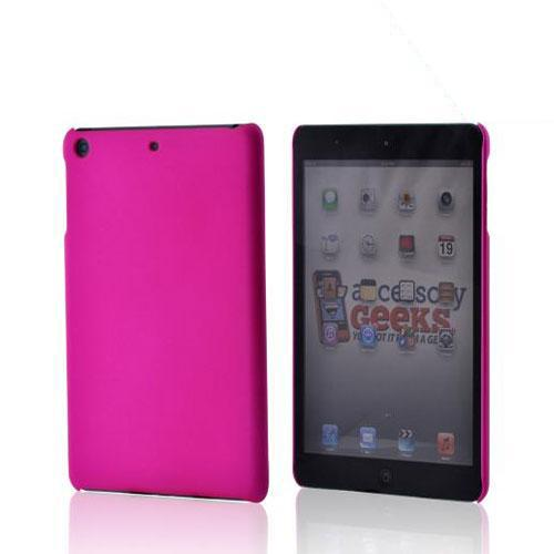 Hot Pink Rubberized Hard Case for Apple iPad Mini 1/2/3
