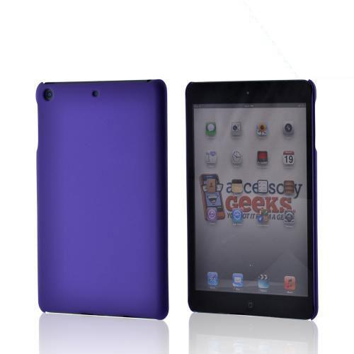 Purple Rubberized Hard Case for Apple iPad Mini 1/2/3