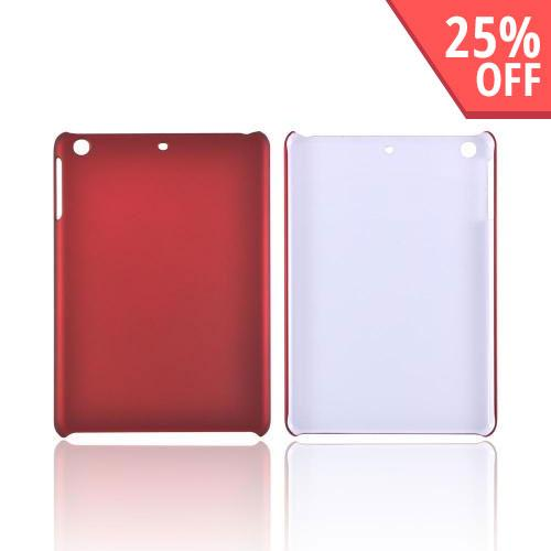 Apple iPad Mini/ iPad Mini 2 Rubberized Hard Case - Red