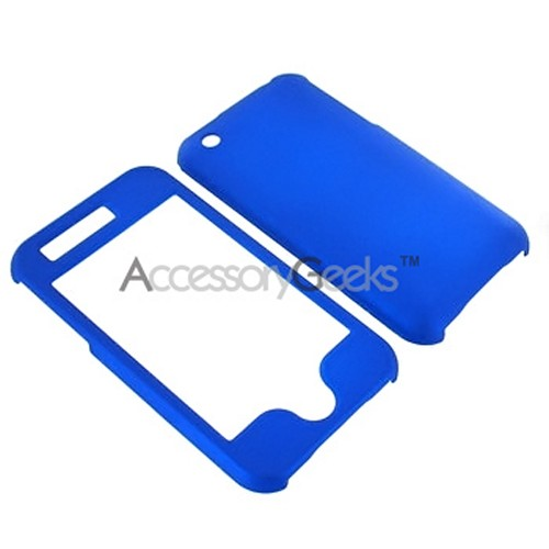 Apple iPhone 3G/3GS Rubberized Hard Protective Case - Blue