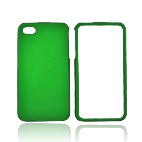Apple Verizon/ AT&T iPhone 4, iPhone 4S Rubberized Hard Case - Green