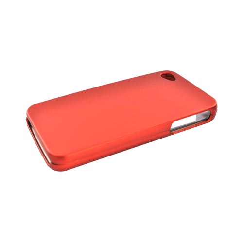 Apple Verizon/ AT&T iPhone 4, iPhone 4S Rubberized Hard Case - Orange