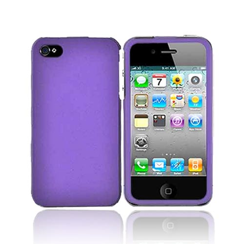Apple Verizon/ AT&T iPhone 4, iPhone 4S Rubberized Hard Case - Purple