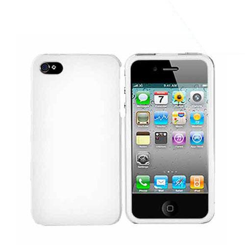 Apple Verizon/ AT&T iPhone 4, iPhone 4S Rubberized Hard Case - White