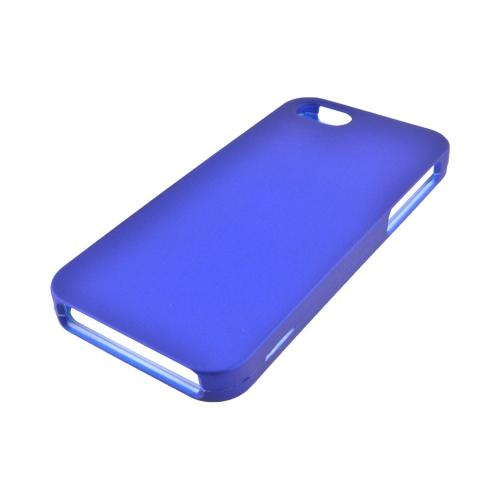 Apple iPhone 5 Rubberized Hard Case - Blue