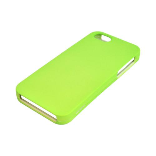Apple iPhone 5/5S Rubberized Hard Case - Neon Green