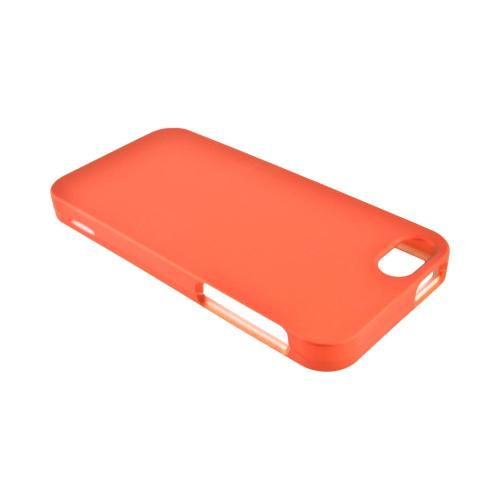 Apple iPhone SE / 5 / 5S Hard Case,  [Orange]  Slim & Protective Rubberized Matte Finish Snap-on Hard Polycarbonate Plastic Case Cover
