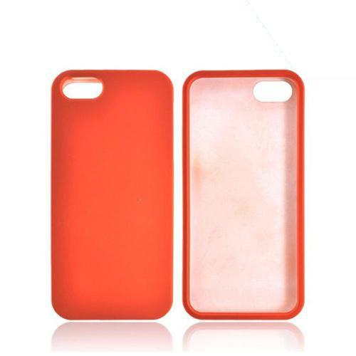 Apple iPhone 5 Rubberized Hard Case - Orange