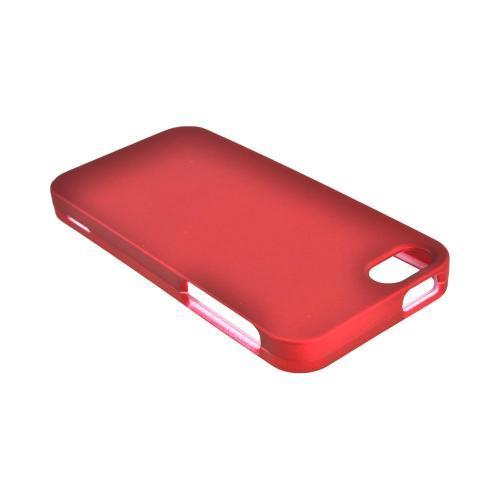 Apple iPhone 5/5S Rubberized Hard Case - Red