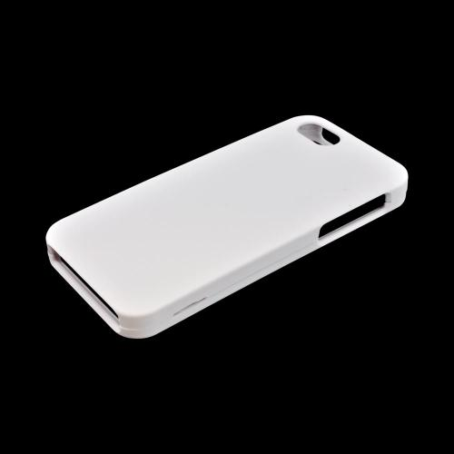 Apple iPhone 5/5S Rubberized Hard Case - Solid White