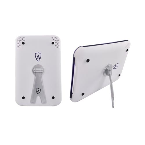 Premium Amazon Kindle 3 Hard Case w/ Silicone Lining and Detachable Swivel Stand - White/Purple