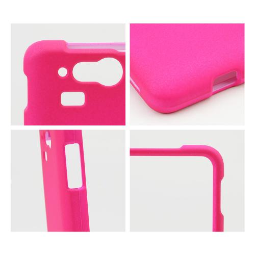 Hot Pink Rubberized Hard Case for Kyocera Hydro Elite C6750