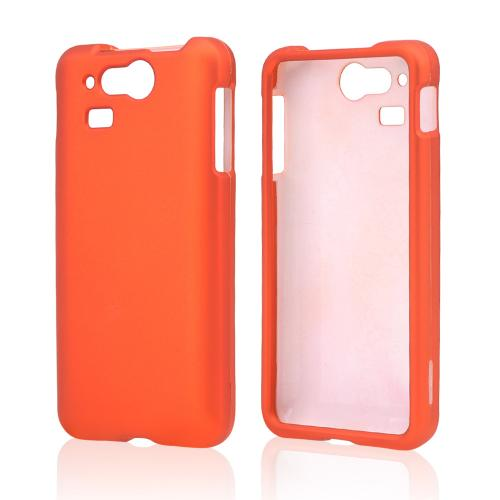 Orange Rubberized Hard Case for Kyocera Hydro Elite C6750