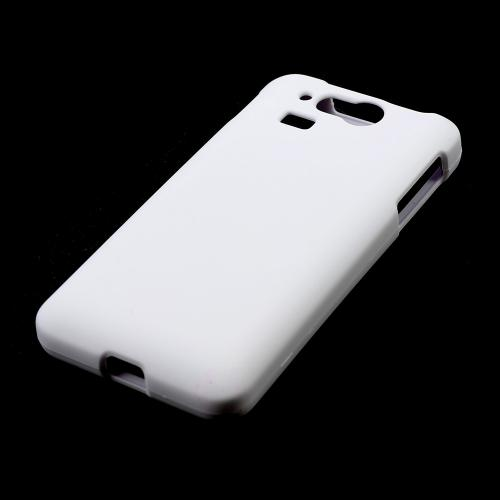 White Rubberized Hard Case for Kyocera Hydro Elite C6750