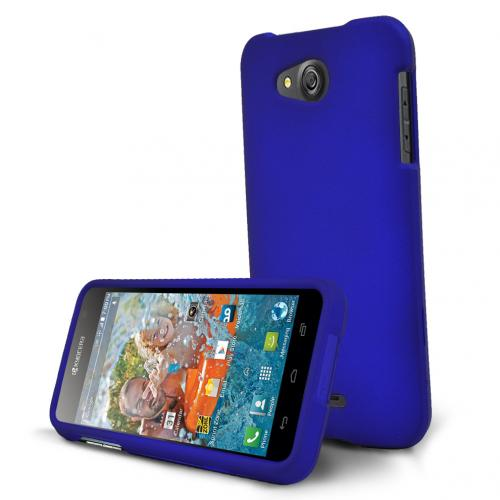 Kyocera Hydro Wave Case, [Blue] Slim & Protective Rubberized Matte Hard Plastic Case