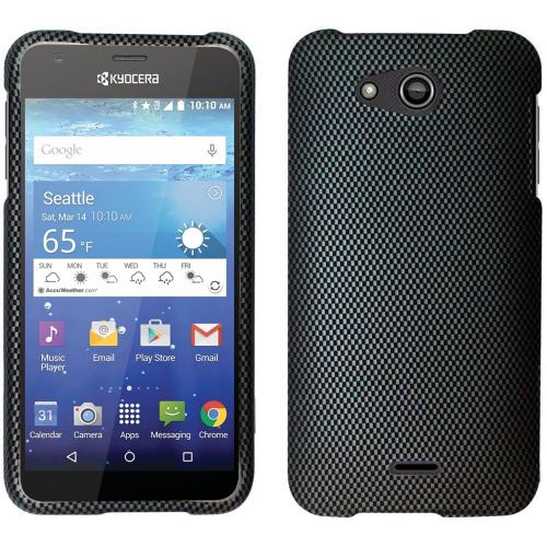 Kyocera Hydro Wave Case, [Carbon Fiber Design] Slim & Protective Rubberized Matte Hard Plastic Case