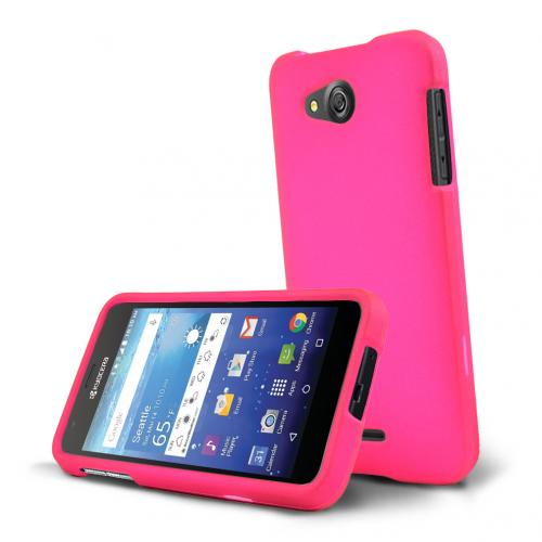 Kyocera Hydro Wave Case, [Hot Pink] Slim & Protective Rubberized Matte Hard Plastic Case