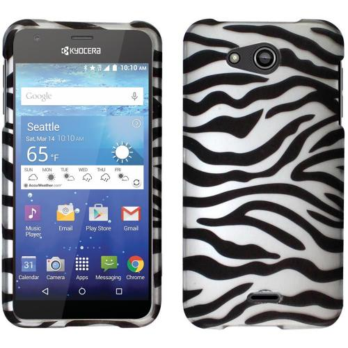 Kyocera Hydro Wave Case, [White Zebra] Slim & Protective Rubberized Matte Hard Plastic Case
