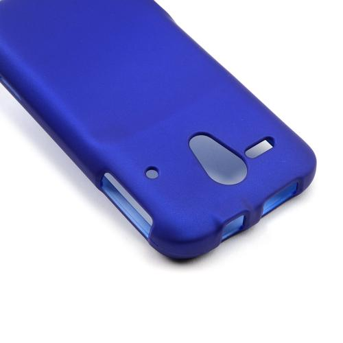 Blue Rubberized Hard Case for Kyocera Hydro Edge