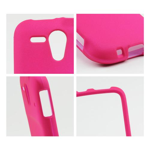 Hot Pink Rubberized Hard Case for Kyocera Hydro Edge
