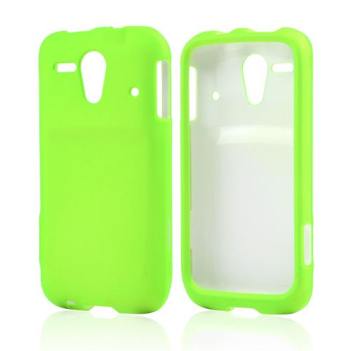 Neon Green Rubberized Hard Case for Kyocera Hydro Edge