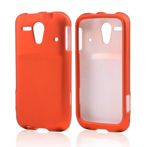 Orange Rubberized Hard Case for Kyocera Hydro Edge
