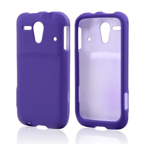 Purple Rubberized Hard Case for Kyocera Hydro Edge