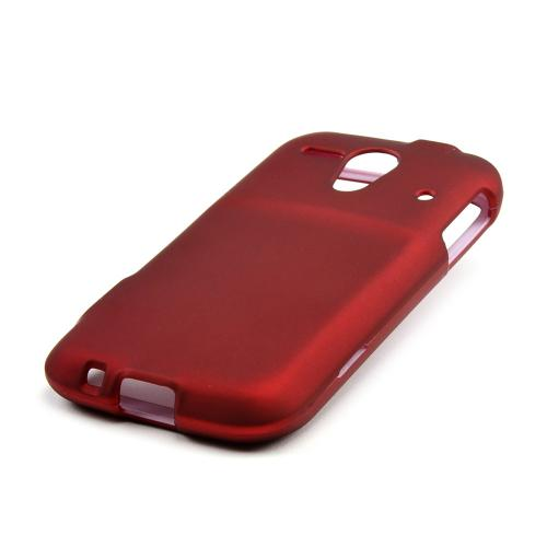 Red Rubberized Hard Case for Kyocera Hydro Edge